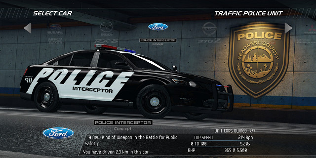 Need for Speed: Hot Pursuit – Fahrzeuge – Traffic Police