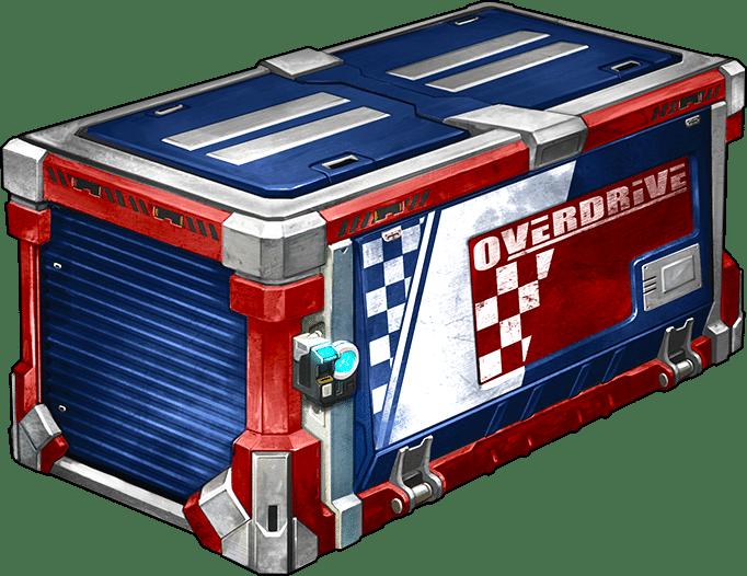 Mit den neuen Overdrive-Kisten, erhaltet ihr neue animierte Abzeichen, brandneue Spuren und vieles mehr.