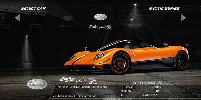Pagani Zonda Cinque Roadster NFS Edition